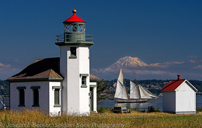 Tall Ship, Tall Lighthouse, Tall Mountain